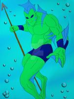 my underwater fish dude by marty0x