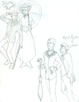 Mycroft Poppins and Lestrade by dacoolcat