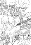 DBZ SAGAS Custom Cover Lineart by PLATINUMBROLY