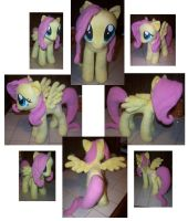 Fluttershy plushie by Helgafuggly