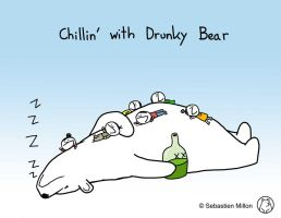 Chillin' with Drunky Bear by sebreg
