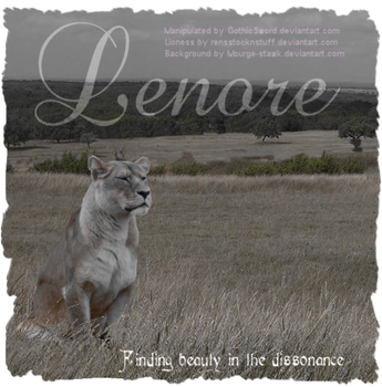Lenore - A lioness character by GothicSword