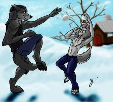 Snowball Fight by FloridianPirate