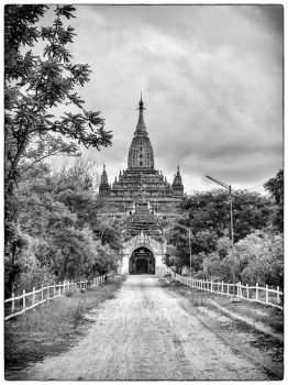 Road to a Temple in Bagan by NachomanCR