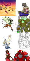 Iscribble Dump by draykathedragon