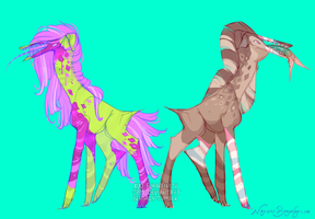 A doodle with alien giraffes by 5019