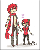 Akaito And DaiDai BY:DAIDAI by Vocaloid-Akaito