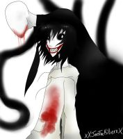 Jeff The Killer and Slenderman by XxJessTheKillerxX