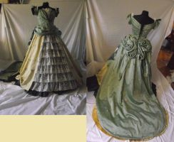 Full Hispanic evening dress(about 1880) by kura-and-something