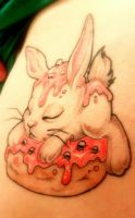 Donut Bunny Tattoo by reniazen