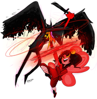 Aradia vs Bec Noir by cam070