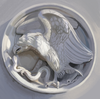 Stone Eagle Study by Sketchmatters