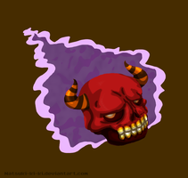 Red Death Skull 1 by Inkblot-Rabbit