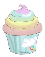 Dashing Rainbow Cupcake by Blesses
