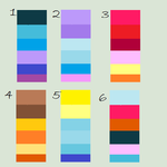 MLP - Design To Adopt - Color Palletes by MinaBra123