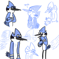 some blue jays by Cartoonishly