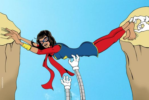 Commission: Ms Marvel tickled again by sandrock74