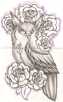 owl tattoo sketch. by Oo-Whisper-oO