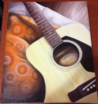 Acoustic Guitar on Canvas (Updated 03/03/15) by Miilo18