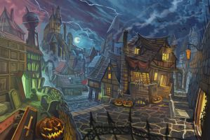 Halloween Town by davidhueso