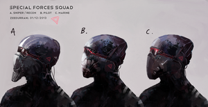 Special Forces Helmets by zeedurrani