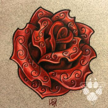 Engraved Ruby - Jeweled Rose by BlvqWulph