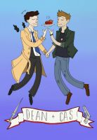 Dean and Cas by TheDoubleB