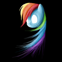 Rainbow Dash's Ghost by Caprinal
