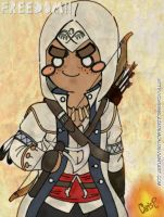 Connor Kenway Chibi FREEDOM by ChrisBlazeDemon