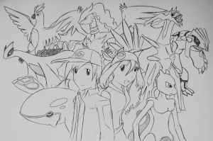 Trainers and their Legendaries... by Ricky47