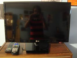 New Small Flat Screen TV by spidyphan2