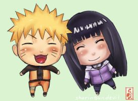 naruhina chibis by sharingandevil
