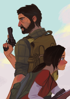 Ellie and Joel by russell-o