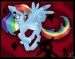 Rainbow Dash *FAN ART* peace by snowtheacat