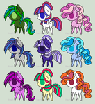 Pony Adopts! ((open))((PRICES REDUCED)) by 4-3-2-fuckyou