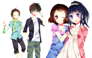 hyouka: summer days render by IdolPrincess