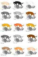 Most cat colors by Vampire-dragon