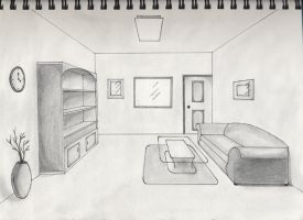 One point perspective interior by timluv