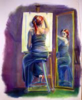 Pastel Self-Portrait by AnnickHuber