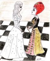 White Queen vs Red Queen by nekkuu