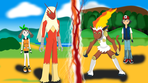 PKMN V - Fire-Fighting Duel by Blue90