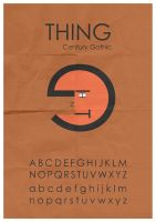 Thing Typeface by mattcantdraw