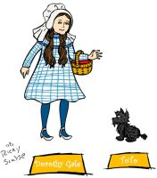 Dorothy Gale and Toto by rickytherockstar