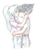 Botan and Hiei by Irrel