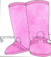 Dawn's Pink Boots by Dafootclan