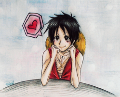 Luffy Cute by KiraiRei