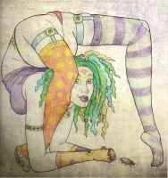 clowny contortion by DelectablyDeviant