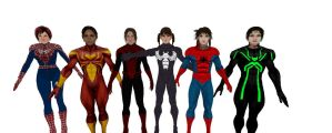 Spider Girl Force Six! by Stylistic86