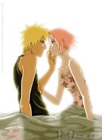 NaruSaku:bed - collab by noodlemie