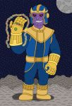 Thanos with the Infinity Gauntlet by MCsaurus